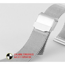 WATCH SPARE PART MESH BAND*22MM Silver