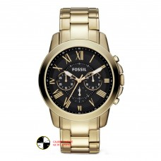 FOSSIL Grant Chronograph Brown Dial Gold-tone Men's Watch FS4815