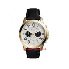 Fossil Grant Chronograph Black Leather Watch FS5272