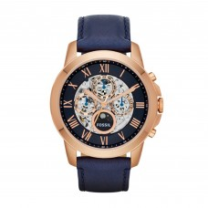 FOSSIL Grant Automatic Navy Leather Watch ME3029