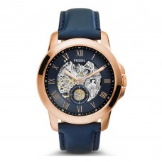 FOSSIL Grant Automatic Navy Leather Watch ME3054