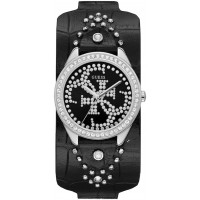 GUESS W1140L1 Heartbreaker Crystal Black Dial Ladies Watch