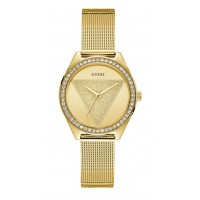 Guess W1142L2  Glitz Crystal Gold Dial Ladies Watch