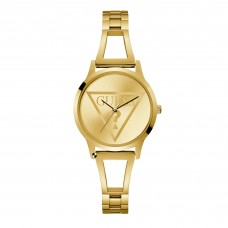 GUESS Ladies Gold Watch with Gold Logo Dial W1145L3