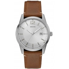 GUESS  W1186G1 Brown Leather Strap