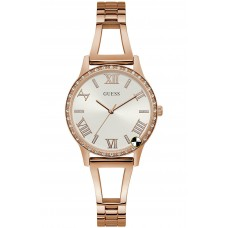 GUESS W1208L3 Rose Gold Tone Case Rose Gold Tone Stainless Steel Watch