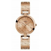 GUESS W1228L3 Rose Gold Tone Case Rose Gold Tone Stainless Steel Watch