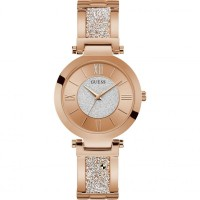 GUESS W1288L3 Rose Gold Tone Case Rose Gold Tone Stainless Steel Watch