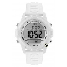GUESS W1299G2  White Case White Silicone Watch