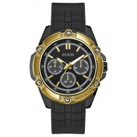 GUESS W1302G2 Black Case Black Silicone Watch