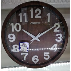 WALL CLOCK ORIENT OROD292 BROWN / WHITE