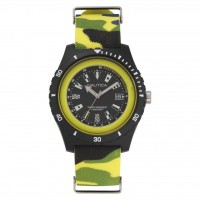 NAUTICA 46mm Resin Case Camo Silicone Strap Men's Watch SURFSIDE YELLOW NAPSRF007