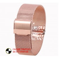 WATCH SPARE PART MESH BAND*22MM Rose Gold