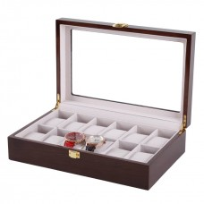 Wooden Watch Collection box 12pcs Space Storage