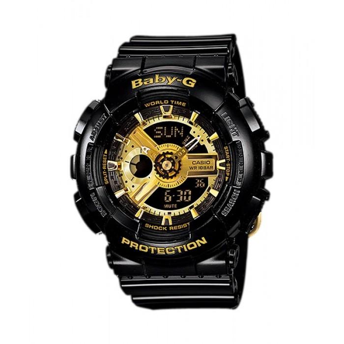 BABY G Analog Digital BA-110-1ADR Ladies Watch