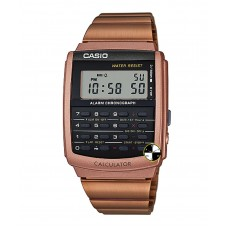 CASIO Digital Rose Gold Stainless Steel Bracelet Watch CA-506C-5A