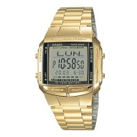 CASIO Data Bank Digital Gold Bracelet Watch DB360G-9A