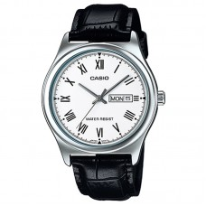 Casio MTP-V006L-7BUDF Men's Analog Day Date Leather Watch