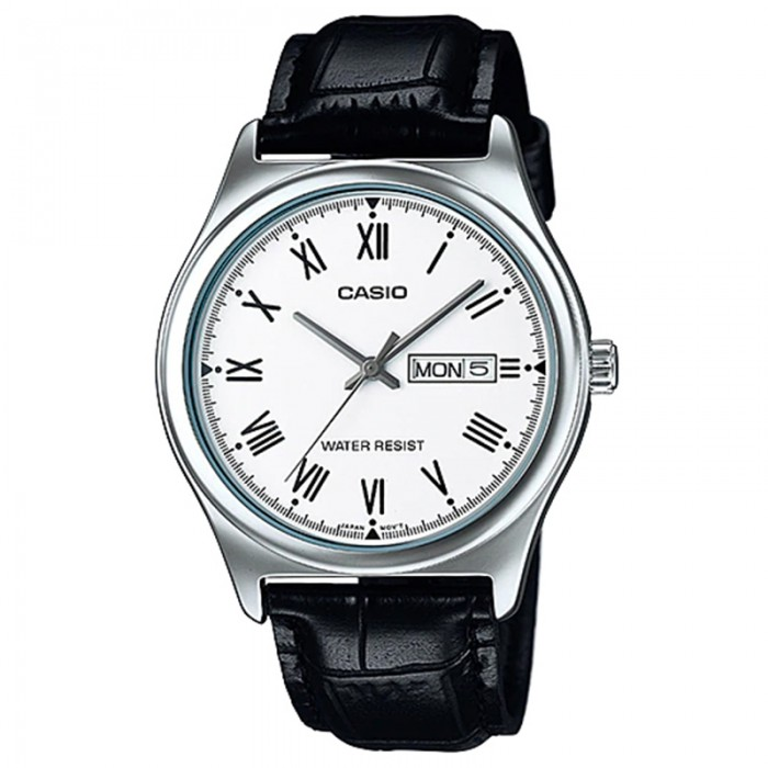 Casio MTP-V006L-7BUDF Men's Analog Day Date Leath...
