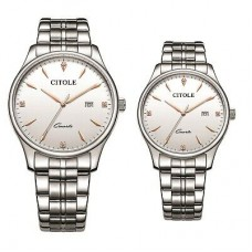 CITOLE Analog Couple Watch CT5185GLSSR