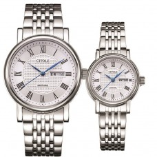CITOLE Analog Couple Watch CT5088GLSSB