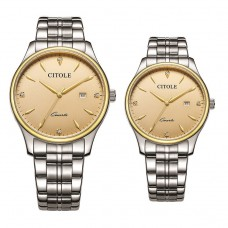 CITOLE Analog Couple Watch CT5185GLSGG