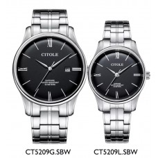 CITOLE Analog Couple Watch CT5209GLSBW