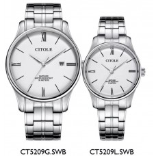 CITOLE Analog Couple Watch CT5209GLSWB