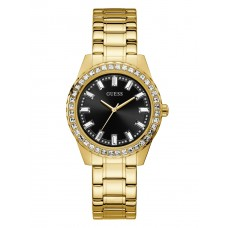GUESS Black And Gold-Tone 38MM LADIES WATCH GW0111L2