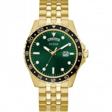 Guess Comet Green Dial Gold Watch GW0220G2