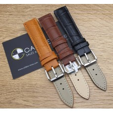 Watch Accessories Genuine Calf Skin Leather Strap SQSQCRO-18MM