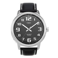 Timex Easy Reader Black Leather Men's Watch T28071