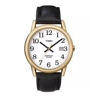 Timex Men's Easy Reader Date Leather Strap Watch T2H291