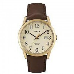 Timex TW2P75800 Men's Easy Reader Leather Strap 38mm Watch
