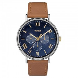 Timex Southview 41mm Multifunction Leather Strap Watch TW2R29100