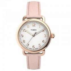 Timex Standard 34mm Leather Strap Watch TW2U13500