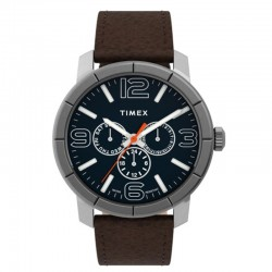 Timex Mod 44 44mm Leather Strap Watch  TW2U15300