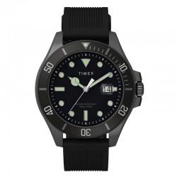 Timex Harborside Coast 43mm Silicone Strap Watch TW2U42000